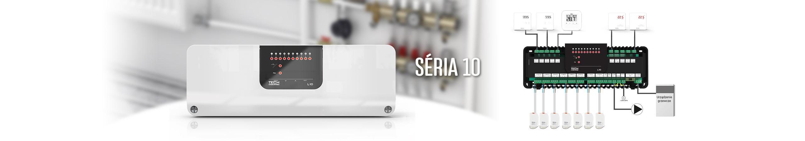 Séria 10 - drôtová zónová regulácia (10 zón) - TECH Sterowniki